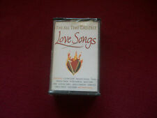 The All Time Greatest Love Songs- UK Double Audio Cassette Tape - 2000  Mint