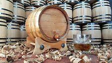 Barril de roble blanco cerveza vino whisky aro de bronce 5L- personalizado grati