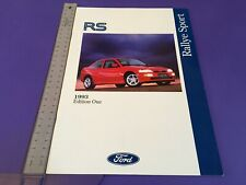 Ford RS Rallye Sport Brochure 1993 - UK Issue - inc Escort Cosworth