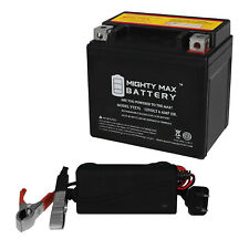 Mighty Max Ytz7S 12V 6Ah Replaces Yamaha Xc50 Vino Classic 2016 + 12V 1A Charger