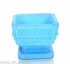 Blue Glass sugar Bowl dining table decorative antique collectible. G16-126 Us