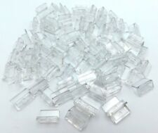 LEGO LOT OF 100 TRANSPARENT CLEAR 1 X 2 X 1 PANELS ROUNDED CORNERS PIECES