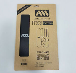All Mountain Style AMS Honeycomb Frame Guard Protection Stickers XL Black/Silver