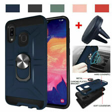 For Samsung Galaxy A10E A20 A30 A50 Case Ring Stand Cover/ Car Air Vent Mount