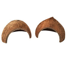 2pcs Reptile Shelter Darkness Coconut Shell Small Animal Cave Cage Hide Habitat