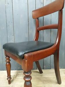Early Victorian Mahogany Dining Chair Set