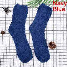 Men Women Extremely Cozy Cashmere Socks Winter.warm Sleep Bed Floor Home 0v Navy Blue