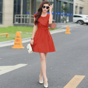 summer large size loose embroidery in the sleeves dress cotton and linen women