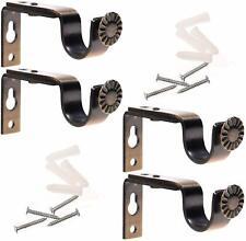 Adjustable Curtain Rod Wall Bracket Set of 4 Steel Drapery Rod Bracket