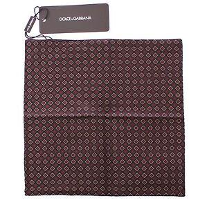 NEW DOLCE & GABBANA Handkerchief Multicolor Silk Pochette Square Pocket 25x25cm