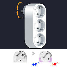 90 Degree Rotating Electrical Power Outlet Strip Plug Socket Adapter EU KOREAN