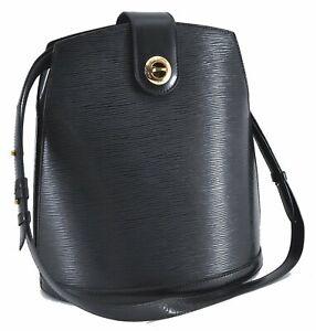 Authentic Louis Vuitton Epi Cluny Shoulder Bag Black M52252 LV C8572