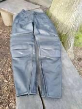 Belstaff Femmes Noir Cuir Moto Pantalon Taille 12-utilisé