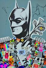 BEAUTIFUL GRAFFITI STREET ART CANVAS PICTURE #23 BATMAN POP ART GRAFFITI CANVAS