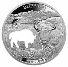 2020 Barbados Shapes America Cut-Out HR 1 oz Proof-Like Silver Buffalo SKU59241