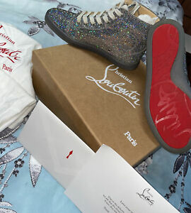 Authentic Christian Louboutin Womens High Top Trainers UK 4 36