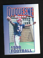 Duquesne Dukes--1998 Football & Volleyball Pocket Schedule--Prudential Realty