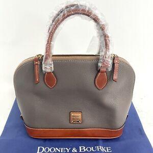 Dooney & Bourke Pebble Grain Zip Zip Satchel- R343 EL Elephant NWT