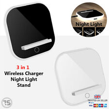 3 in 1 Fast Wireless Stand Charger Night Light Iphone XS X XR Samsung S10 S9 S8