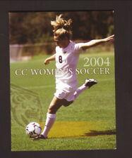 Colorado College Tigers--2004 Soccer Pocket Schedule--Wells Fargo
