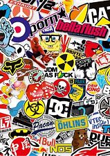 3 FOGLI a4 STICKER BOMB * JD 8m EURO Drift VW * ripopen Auto Furgone iPad Tablet