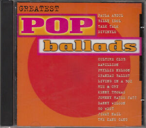 Greatest Pop Ballads:PAULA ABDUL,TALK TALK,BILLY IDOL,GO WEST,SPANDAU BALLET,HUE