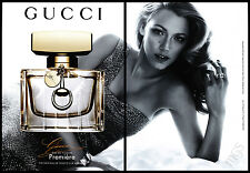 Blake Lively 2-pg clipping 2014 ad for Gucci Premiere