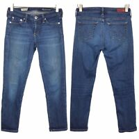 Adriano Goldschmied AG The Stevie Crop Womens Size 25R Distressed Painted Jeans
