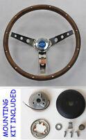 "1960's Chevelle Nova Camaro Impala Grant Steering Wheel Wood Walnut 13.5 13 1/2"""