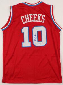 Maurice Cheeks Signed Philadelphia 76ers Adidas Harwood Classic Jersey (PSA COA)