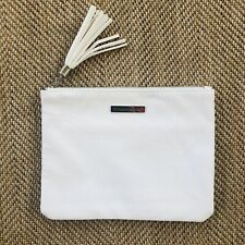 Rodan & Fields White Cosmetic Make-up Bag / Wristlet - Faux Snake Skin New