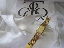 """Tiffany & Co.18K Gold Plated Portfolio Swiss StainlessSteel WristWatch 6""""-6 3/4"""""""