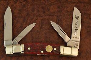 UNITED BOKER TREE BRAND SOLINGEN GERMANY RED BONE TOBACCO CONGRESS KNIFE (9708)