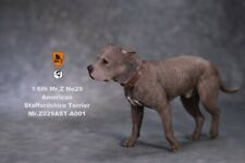 Mr.Z 1/6 Scale American Staffordshire Terrier Dog Pet Figure Animal Walk fit 12""
