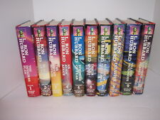 MISSION EARTH COMPLETE SET 1-10 HARD COVER BOOKS ALL 1st EDITION L. RON HUBBARD