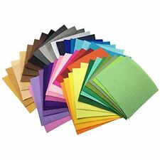 "42pcs 6"" X (15x15cm) 1mm Thick Soild Felt Nonwoven Fabric Sheet Pack Diy Craft"