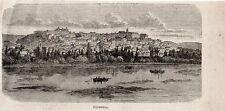 Stampa antica COIMBRA veduta Portogallo Portugal 1897 Old Print Gravura antigua