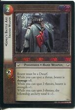 Lord Of The Rings Foil CCG Card RotK 7.R9 Gimli's Battle Axe, Trusted Weapon