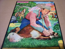 Vintage Frame Tray Puzzle Roy Rogers Tying a Calf Whitman #2610:29