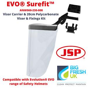 JSP Surefit™ Carrier & 20cm Polycarbonate Visor for Evolution® Evo Safety Helmet
