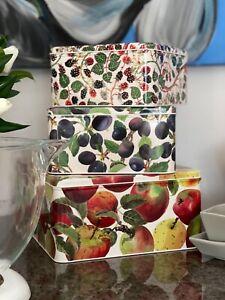 Emma Bridgewater: Apple  Garden Set Of 3 Square Cake Tins. NEW DESIGN