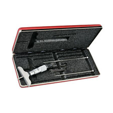 Starrett 440MZ-75RL Depth Micrometer with 3 Interchangable Rods Ratchet Thimble