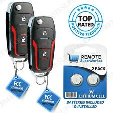 ECCPP Replacement fit for 4 Buttons Uncut Keyless Entry Remote Key Fob 00-15 Ford Series OUCD6000022 Pack of 1