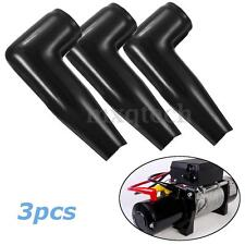 3x Black Electric Guard Winch Motor Cable Terminal Boot Rubber Cover Replacement
