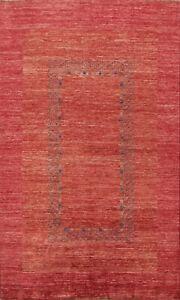 Contemporary Handmade Gabbeh Oriental Area Rug Living Room Wool Carpet 6x9 RED