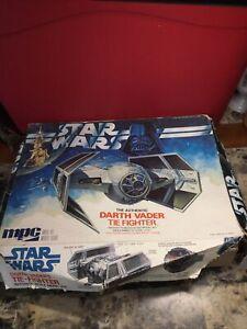 Vintage MPC 1978 Star Wars Darth Vader's Tie-Fighter Model Kit - For Parts