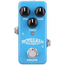 Nux Mini Core Monterey Vibe Guitar Effects Pedal +Picks