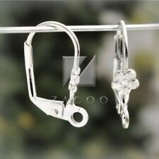 22pcs Silver Lever Back earring hook earwires 18x10mm
