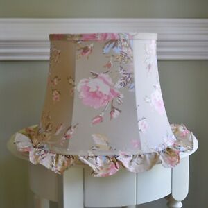 Rachel Ashwell Simply Shabby Chic FLORAL CASTLE Pink Rose Ruffle LAMP SHADE New