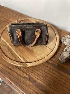 Authentic Louis Vuitton Monogram Mini Speedy Hand bag w/Shoulder Strap/62654